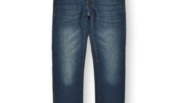 Boys' Faded Skinny Jeans #01 Sand Blue