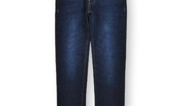 Boys' Faded Skinny Jeans #03 Dark Navy