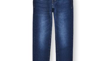 Boys' Faded Skinny Jeans #07 Dark Indigo